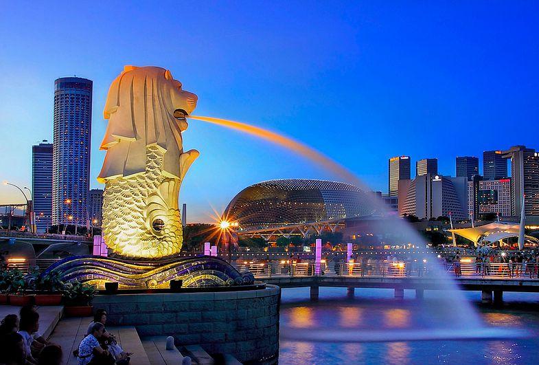 Tượng Merlion - biểu tượng của đất nước Singapore